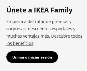 Tarjeta Ikea Family