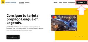 Como son las recargas por la tarjeta prepago correos en Espana paso 2