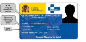 Donde aparece el numero de la seguridad social en la tarjeta sanitaria1